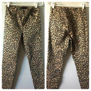 J Brand Alana Skinny Jeans Golden Leopard Sz 27